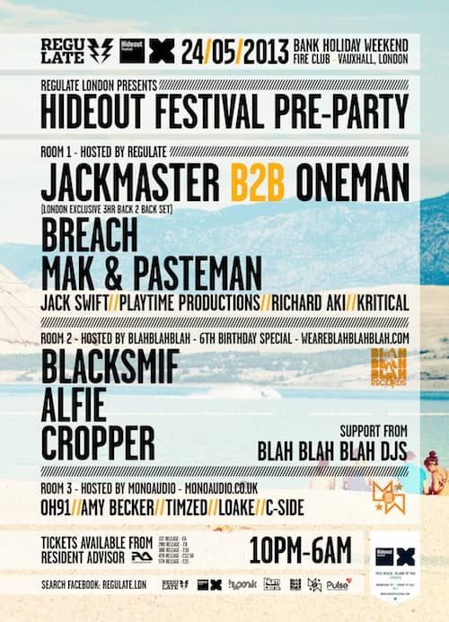 BBB 6th Birthday Pt.2 – Hideout Festival Pre Party with Regulate